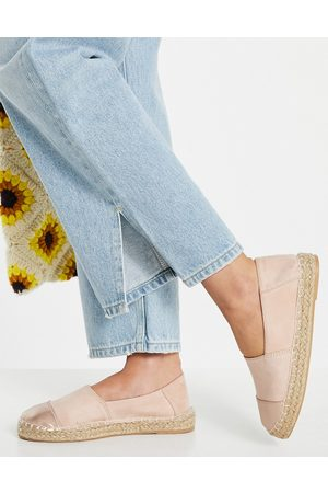 Accessorize Toe cap espadrille in pale pink and rose gold