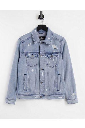 Hollister Indigo denim trucker jacket in medium wash