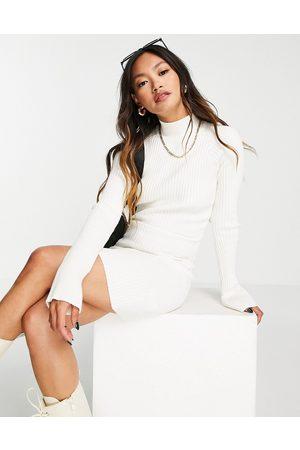 Pretty Lavish Abbey knit mini dress in cream