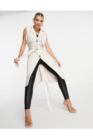 4th & Reckless Sleeveless trench duster in