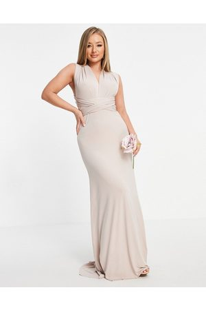 TFNC Bridesmaid multiway maxi dress in pink