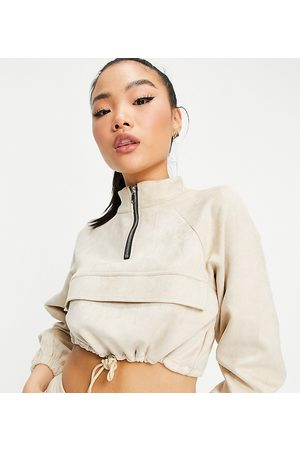 Parisian Mujer Suéteres - Suedette half zip sweater co