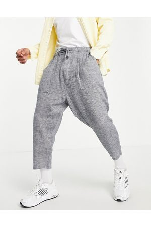 ASOS Hombre Chinos - Drop crotch trousers in lightweight textured fabric