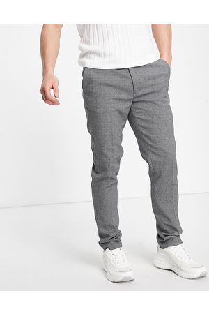 ASOS Hombre Chinos - Super skinny smart trouser in grey micro texture
