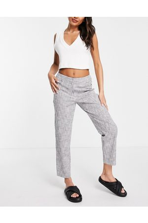 SELECTED Femme tailored straight leg trousers in grey