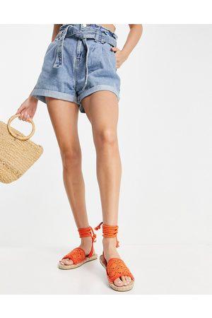 ASOS June rope tie espadrilles sandals in orange