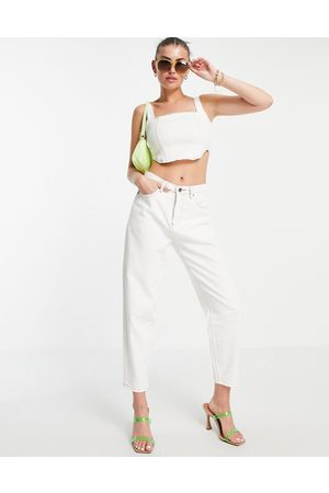 FAE High waisted mom jean in ivory