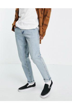 ASOS Hombre Skinny - Light wash slim jeans in selvedge denim