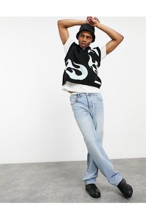 ASOS Hombre Rectos - Straight leg jeans in vintage light wash