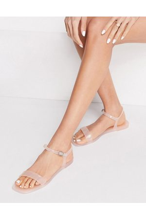 Truffle Collection Jelly sandals in blush