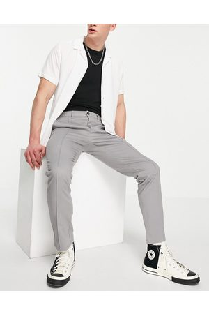 ASOS Slim chinos with pintuck in grey