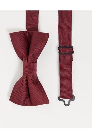 ASOS Satin bow tie in burgundy