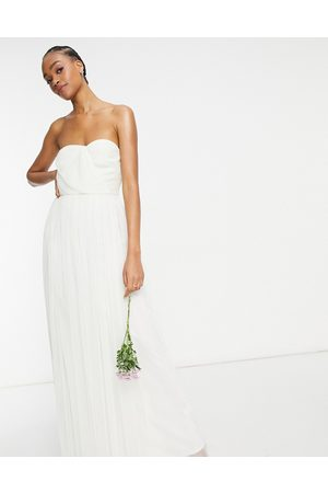 ANAYA With Love tulle bandeau maxi dress in white