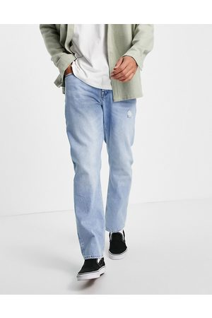 ASOS Hombre Skinny - Original fit jeans in vintage light wash with abrasions
