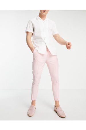 ASOS Super skinny smart trouser in pink cross hatch