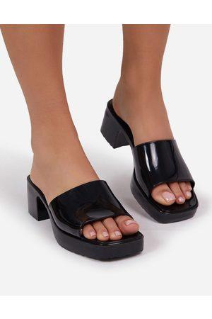 Ego Rhea mid heel mule sandals in black