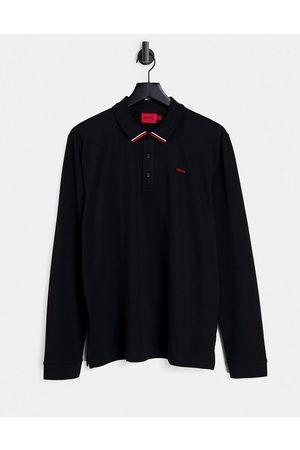 HUGO BOSS Donol212 long sleeve polo shirt in black