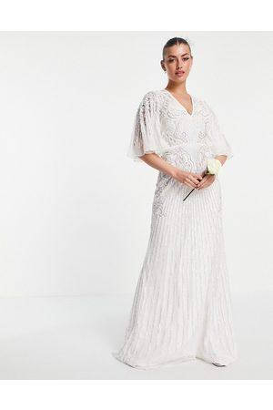 ASOS Eliza flutter sleeve embellished wedding dress