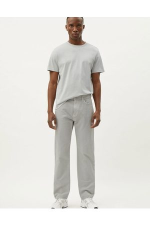 Weekday Space Washed Trousers in Light Grey