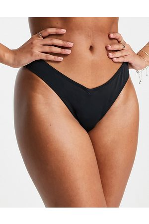 Pour Moi Fuller Bust Space micro high leg bikini bottom in black