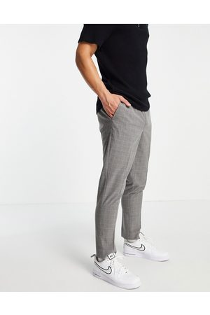 New Look Slim smart trousers in grey check