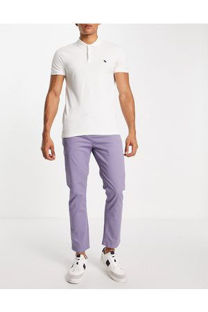 ASOS Hombre Chinos - Slim chinos with elasticated waist in blue