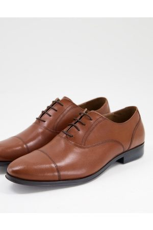 ASOS Oxford shoes in tan leather with toe cap