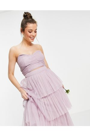 ANAYA With Love strapless corset top in lilac co