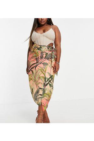 Never Fully Dressed Wrap tie midi skirt co