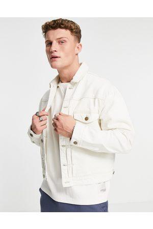 River Island Boxy denim jacket in ecru