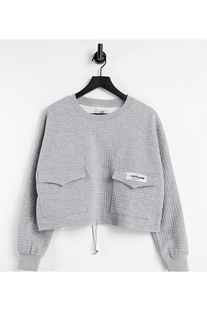 Sixth June Mujer Con capucha - Cropped cargo sweatshirt in waffle with toggle waist