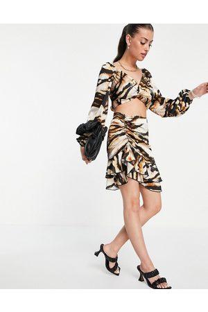 Flounce London Mujer Minifaldas - Ruched flippy mini skirt co