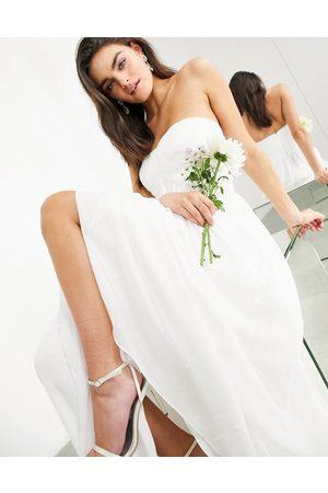 ASOS Mujer Vestidos de noche - Lyra ruched bandeau wedding dress