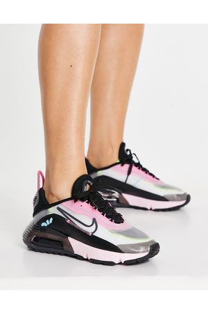 Nike Air Max 2090 trainers in pink and black