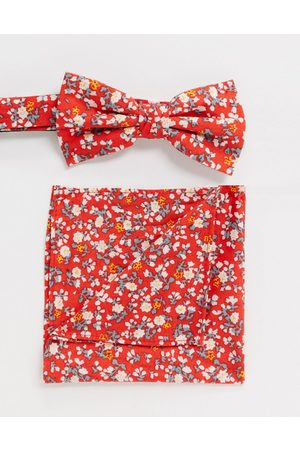 Ben Sherman Bow tie and pocket square set