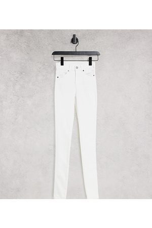 Dr Denim Lexy mid rise super skinny jeans in white