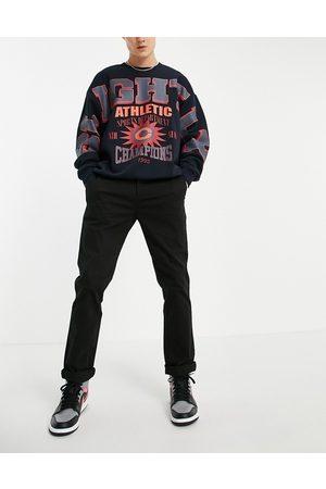 ASOS Hombre Chinos - Slim chinos in black