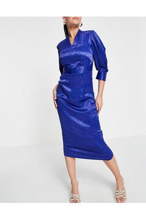 Closet Closet Pleated Sleeve Pencil Dress