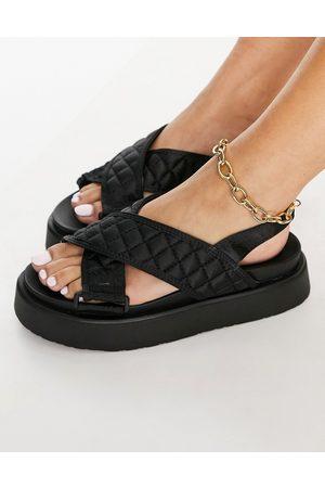 Ego Squad flatform sandals in black