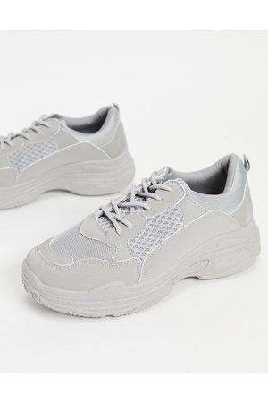 Public Desire Fiyah chunky trainers in grey
