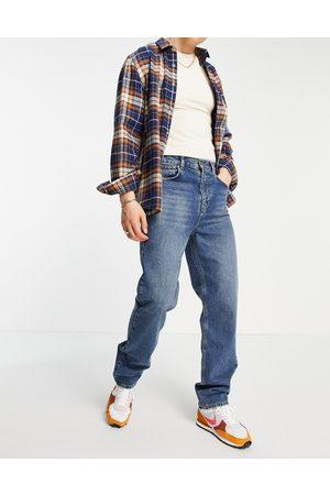 ASOS Dad jeans in vintage dark wash with elasticated waist