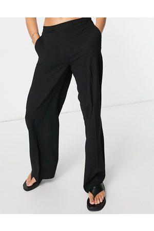 SELECTED Femme wide leg trouser in black