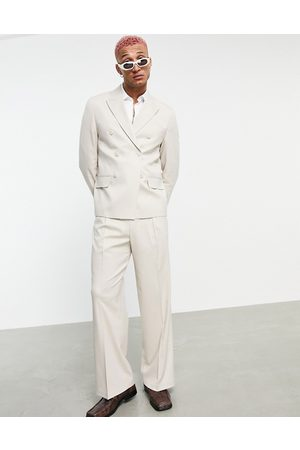 ASOS Wide leg suit trousers in