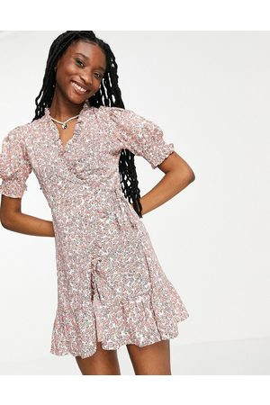 Influence Wrap dress in ditsy floral