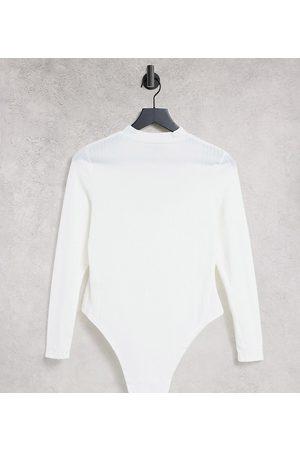 Parisian Long sleeve bodysuit in white