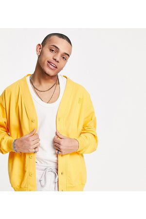 Reclaimed Inspired organic cotton jersey bomber jacket in yellow