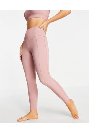 Onzie High waisted ribbed leggings in pink