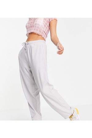 COLLUSION Unisex oversized joggers with elasticated hem in light grey co