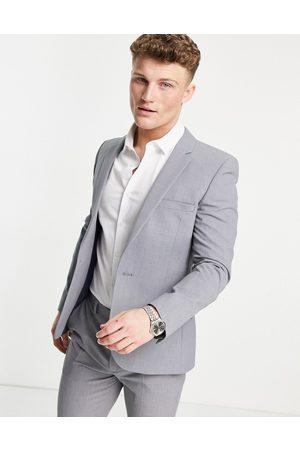 ASOS Super skinny suit jacket in mid grey