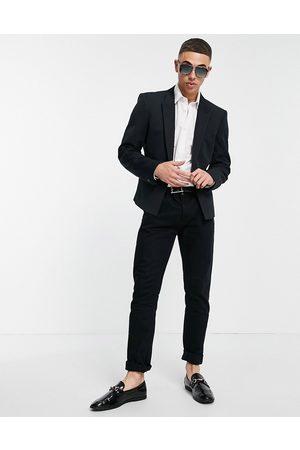 ASOS Skinny crop blazer with silver button